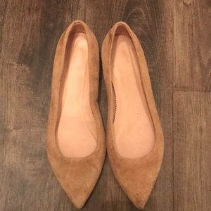 J. Crew Size 6 Nude Suede Flats